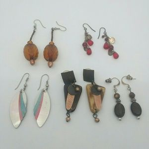 5-PAIR Bundle of Handmade Earrings